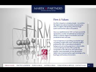 Marek & Partners web